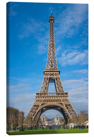 Stampa su tela  The Eiffel Tower of Paris - FineArt Panorama