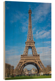 Stampa su legno  The Eiffel Tower of  Paris - Fine Art Images