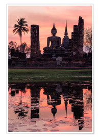Poster Premium  Wat Mahathat in evening light - Matteo Colombo