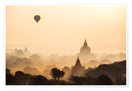 Poster Premium  Balloon over Bagan, Myanmar - Matteo Colombo