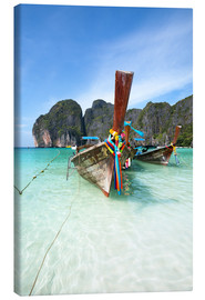 Stampa su tela  Decorated wooden boats, Thailand - Matteo Colombo