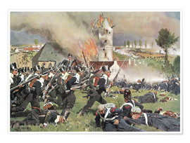 Poster Premium Battle of Waterloo 1815