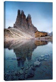 Stampa su tela  Vajolet towers in the Dolomites - Matteo Colombo