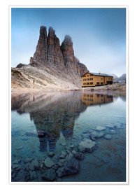 Poster Premium Vajolet towers in the Dolomites