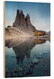 Stampa su legno  Vajolet towers in the Dolomites - Matteo Colombo