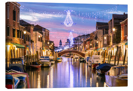 Stampa su tela  Canal in Venice at Christmas - Matteo Colombo