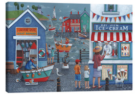 Stampa su tela  Seaside icecreams - Peter Adderley