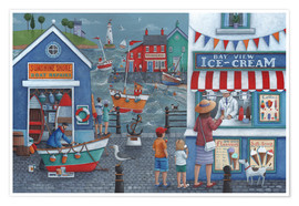 Poster  Seaside icecreams - Peter Adderley