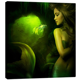 Stampa su tela  The mermaid - Elena Dudina