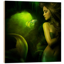 Stampa su legno  The mermaid - Elena Dudina