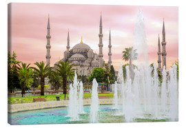 Stampa su tela  the blue mosque (magi cami) in Istanbul / Turkey (vintage picture) - gn fotografie