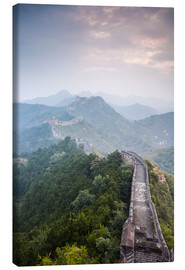Stampa su tela  Great Wall of China in fog - Matteo Colombo