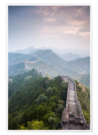 Poster Premium  Great Wall of China in fog - Matteo Colombo