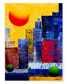 Poster Premium New York Skyline Abstrakt
