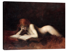 Stampa su tela  The Reader - Jean-Jacques Henner
