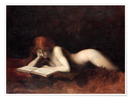 Poster Premium  The Reader - Jean-Jacques Henner