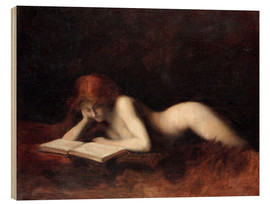 Stampa su legno  The Reader - Jean-Jacques Henner