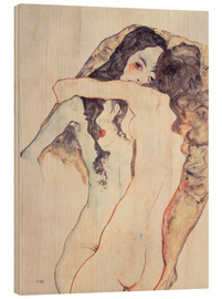Legno  Two women in embrace - Egon Schiele