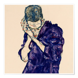 Poster Premium  Youth with violet frock - Egon Schiele