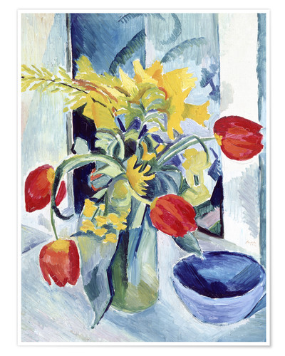 Poster Premium Still life with tulips