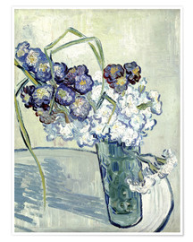 Poster Premium Vase with Carnations