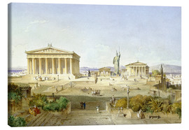 Stampa su tela  The Acropolis at Pericles' time - Ludwig Lange