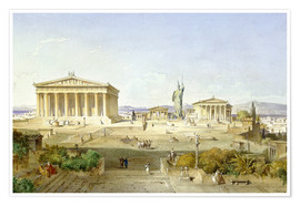 Poster Premium  The Acropolis at Pericles' time - Ludwig Lange