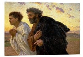 Stampa su vetro acrilico  Morning of the resurrection, Peter and John on their way to the grave - Eugene Burnand