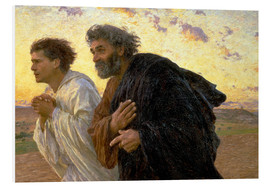 Forex  Morning of the resurrection, Peter and John on their way to the grave - Eugene Burnand