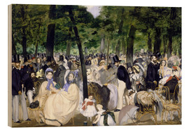 Stampa su legno  Music in the Tuileries - Edouard Manet