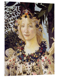 Stampa su schiuma dura  The spring, the head of the Flora - Sandro Botticelli