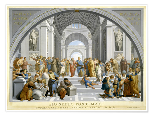 Poster Premium School of Athens (after Raphael) to 1771-79