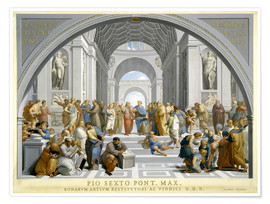 Poster Premium  School of Athens (after Raphael) to 1771-79 - Giovanni Volpato