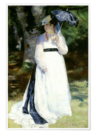 Poster Premium Lise with Parasol