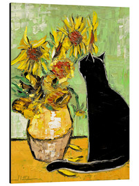 Stampa su alluminio  The cat of Van Gogh - JIEL