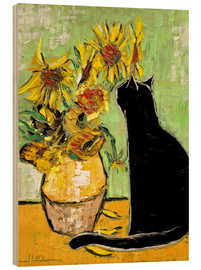 Stampa su legno  The cat of Van Gogh - JIEL
