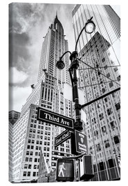 Stampa su tela  High Rise New York City - Chrysler Building (monochrome) - Sascha Kilmer