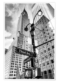 Poster Premium  Edifici alti a New York City - Chrysler Building - Sascha Kilmer