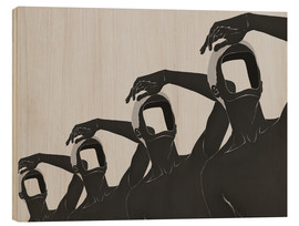 Stampa su legno  people mountain people sea No 3 - Mojo Wang