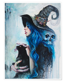 Poster Premium Blue Witch