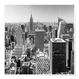 Poster Premium  Top Of The Rock - New York City (monochrome) - Sascha Kilmer