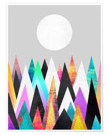 Poster Colorful Peaks 2