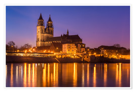 Poster Premium Cathedral of Magdeburg