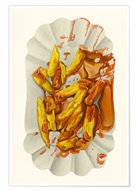 Poster Premium  French fries with ketchup - Dieter Ziegenfeuter
