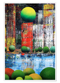 Poster Premium  New York  Central Park, abstract - Gerhard Kraus