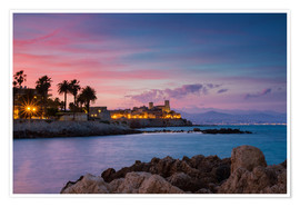 Poster Premium  Antibes at sunset, Provence - Circumnavigation