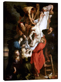 Stampa su tela  Descent from the Cross - Peter Paul Rubens