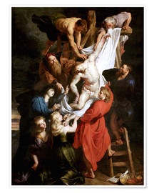 Poster Premium  Descent from the Cross - Peter Paul Rubens