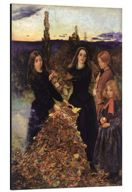 Stampa su alluminio  Autumn Leaves - Sir John Everett Millais