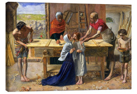 Stampa su tela  Christ in the House of His Parents - Sir John Everett Millais